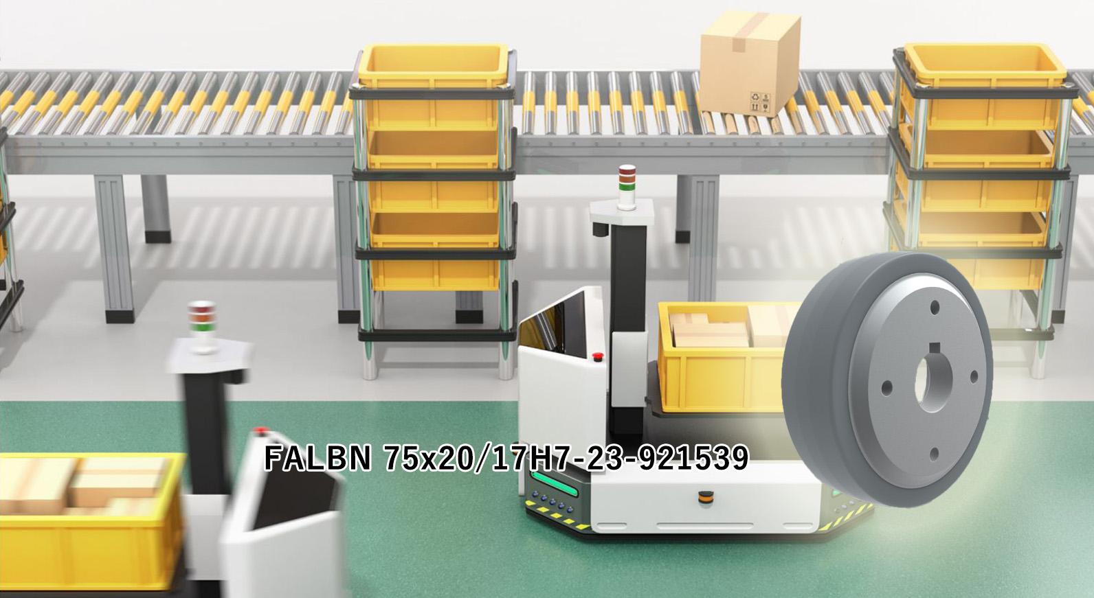 イントラロジスティック開発企業への、電力効率の良い耐重荷重仕様キャスターの導入