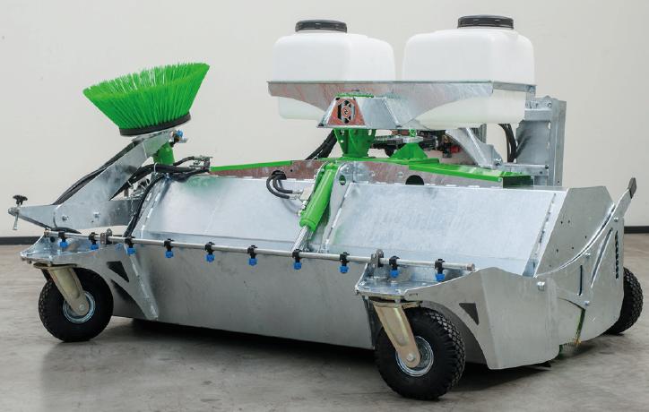 屋外用清掃機向け重荷重仕様溶接鋼板自在キャスター 農機具メーカーでの導入例